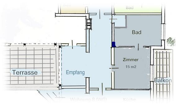 Gleiche Ebene Dusche : Kleine Wohnungen und G?stezimmer im Kamala